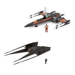 Star Wars TIE Fighter and X-Wing Fighter Set - Includes Kylo