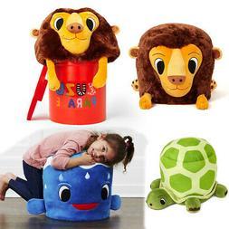 Zuzu Parade Stuffed Animal Kids Chair Playroom Toy Storage B