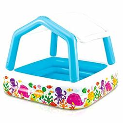 """Intex Sun Shade Inflatable Pool, 62"""" X 62"""" X 48"""", for Ages 2"""