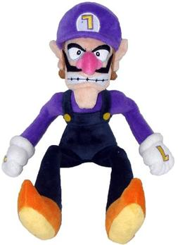 "Super Mario Plush - 11"" Waluigi Soft Stuffed Plush Toy Japan"