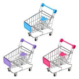 Supermarket Handcart Trolley Mini Shopping Cart Desktop <fon