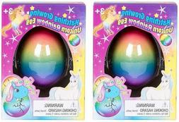 Set of 2 Surprise Growing Unicorn Hatching Rainbow Egg Kids