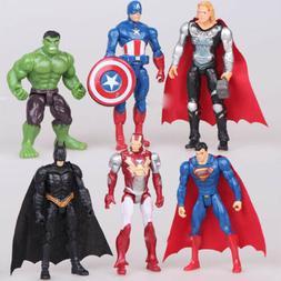 The Avengers Batman Hulk Thor Iron Man Superman 6 PCS Action