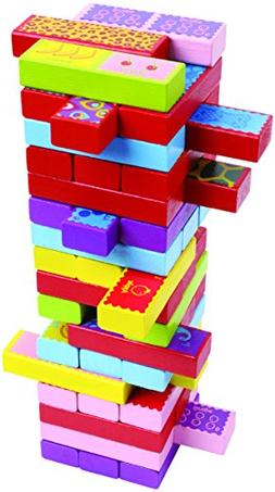 CoolToys Timber Tower Wood Block Stacking Game – 3 Games i