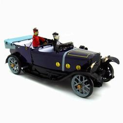 Tin Convertible Car Wind-up Toy Hand-Made Vintage Decoration