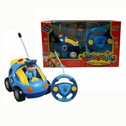 Toddler Kids Musical R/C Remote Control Police Vehicle, Figu