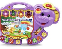 VTech Touch Electronic Learning Toys And Teach Elephant, Pur