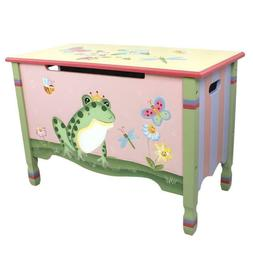 Toy Box Home Decor Kids Furniture Rectangular Durable Wood O