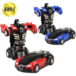 XHAIZ Toy Cars, Transformers One-Step, 2-pack