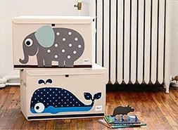 3 Sprouts Toy Chest Nursery Storage Organizer Box Polyester