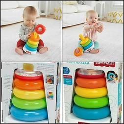 Toy Fisher-Price Rock A Stack5 Colorful Rings, Perfect For G