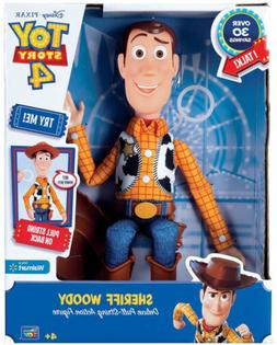 """Toy Story 4 SHERIFF WOODY Pull-String 12"""" Action Figure Disn"""