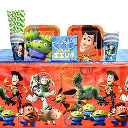 Toy Story Party Supplies Pack for 16 Guests: Straws, Dessert