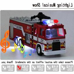 Toys Car for Boys Truck Kid Cars Fire Truck w/ Led Light Mus