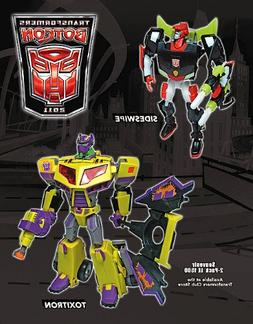 TRANSFORMERS ANIMATED BOTCON 2011 SIDESWIPE AND TOXITRON LIM