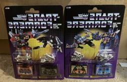 Transformers G1 Reissue Frenzy & Laserbeak Ravage & Rumble W