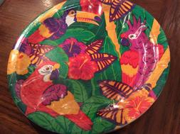 Two  Packages Amscan  Party Tropical Birds Round Plates Tabl
