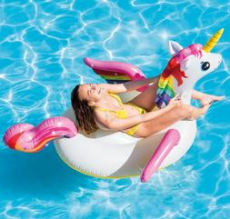 "Intex Unicorn Inflatable Ride-On Pool Float, 79"" X 55"" X 38"""