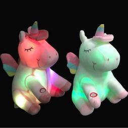 Unicorn Stuffed Animal Cute Princess Girls Nightlight Light