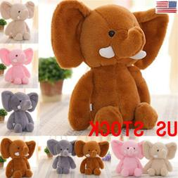 US Baby Kid Cute Animal Soft Plush Toy Mini Elephant Stuffed