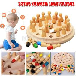 US Kids Wooden Memory Match Stick Chess Game Fun Puzzle Educ