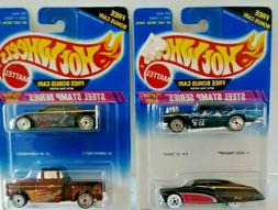 VINTAGE HOT WHEELS- 1995 STAMPED STEEL SERIES - 4 CAR COMPLE