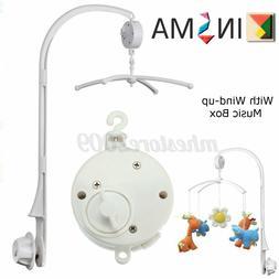White 4Pcs Baby Crib Mobile Bed Bell Toy Holder Arm Bracket