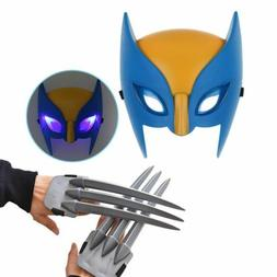 Wolf Wolverine Claws & Wolverine Mask Cosplay Props Plastic