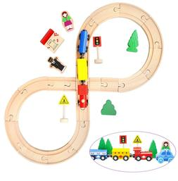 Wooden Toys Club Wood Train Set for Toddlers, Kids, Baby | 3