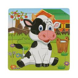Wooden Dairy Cow Jigsaw Toys For Kids Education And Learning