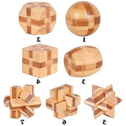 Wooden Kongming Lock Brain Teaser Puzzle Children Adults Edu