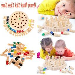 wooden memory match stick chess game children