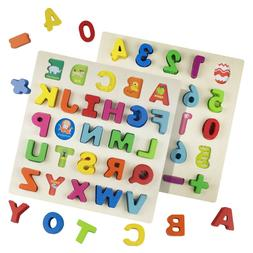 Wooden Peg Puzzle Toddler's Number Jigsaw Dazzling Toys Educ