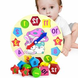 Wooden Puzzle Baby Kids Toddler Jigsaw Alphabet Letters Anim