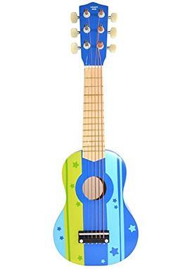 Pidoko Kids Wooden Ukulele Toy Guitar Instrument, Blue - Mus