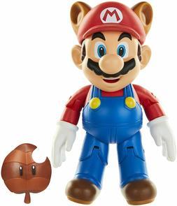 "World of Nintendo Raccoon Super Mario 4"" Action Figure Kids"