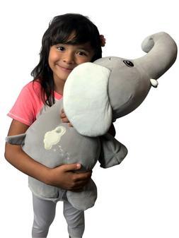 Large Stuffed Elephant Animal Plush Soft Toy Adorable for Ki