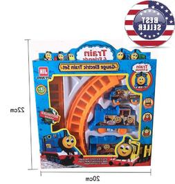 Electric Train Set Kid toddler Toy Battery Operated Railway