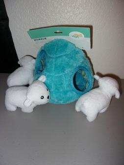 ZippyPaws ZP857 Zippy Burrow  Polar Bear Igloo Interactive P